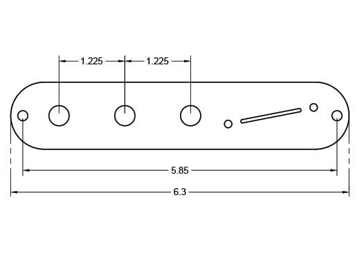 Angled Piezo Tele Plate Dimensions