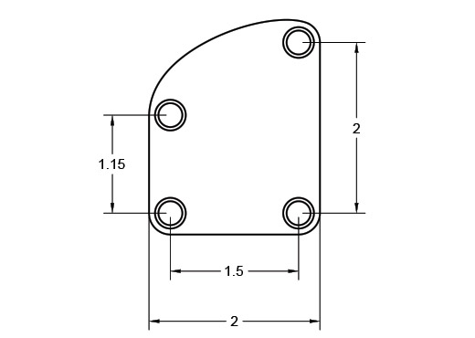 Contour Neck Plate Dimension Drawing