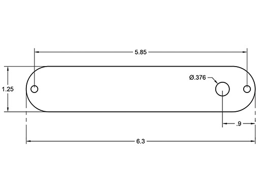 ESQ Control Plate Dimensions