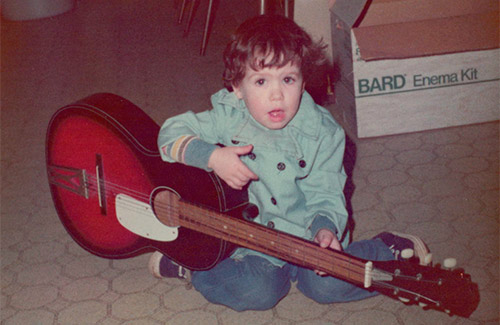 Little Joey playing guitar