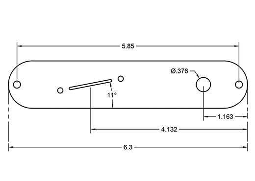 Mickey Telecaster Plate Dimensions