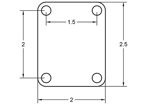 Guitar Neck Plate Dimensions
