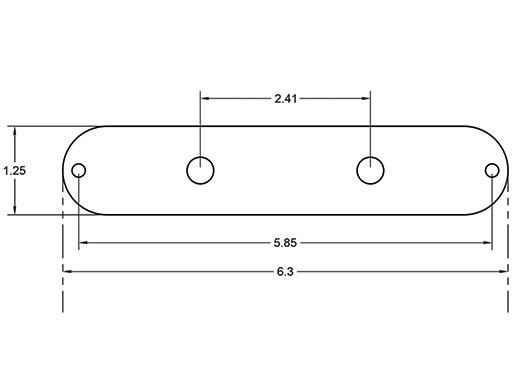 OCD Tele Control Plate Dimensions