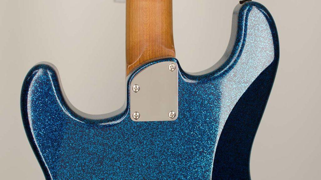 Contour Titanium Neck Plate on a RockRabbit Guitar