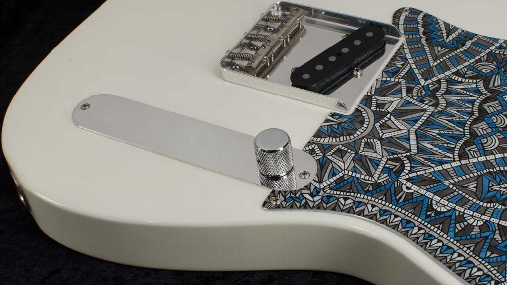 RockRabbit ESQ Telecaster Control Plate mounted on guitar