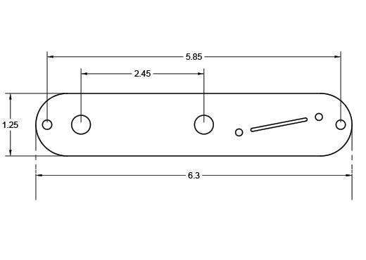 Dimensions of S1 Switch Angled Control Plate