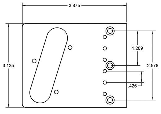 Modern Tele Bridge Dimensions