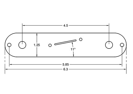 Dimensions of 5way Telecaster plate