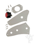 Set of Jaguar Control Plates for Toggle switch and including arcade kill switch