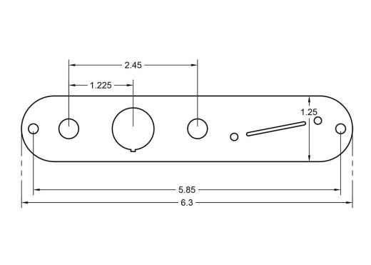 RockRabbit Angle Kill Switch Plate Dimensions