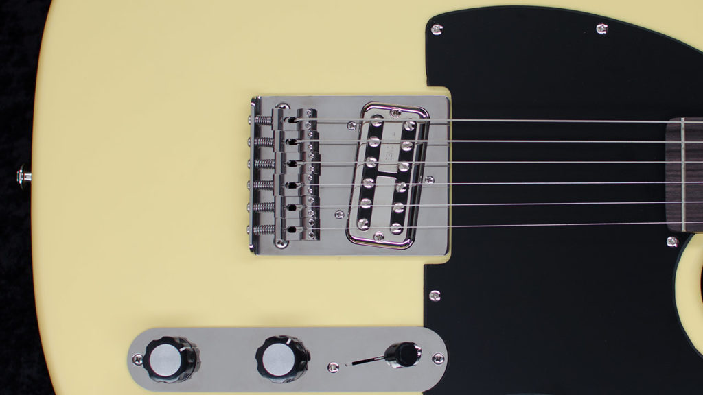 RockRabbit Teletron Titanium Bridge on Telecaster Guitar
