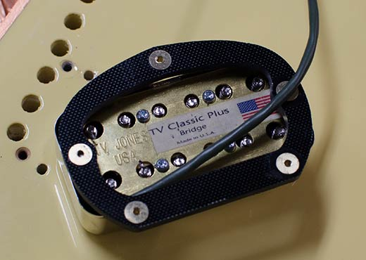 TV Jones Classic Plus Filtertron pickup with G10 chassis