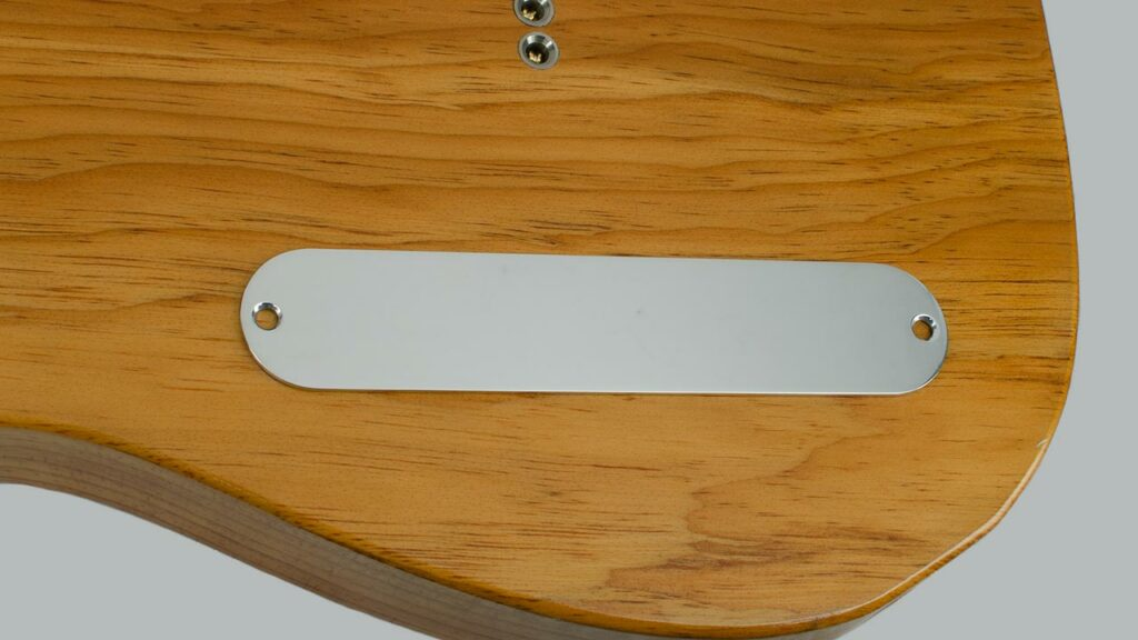 Blank Telecaster Control Plate made of Aircraft Aluminum by RockRabbit Guitars