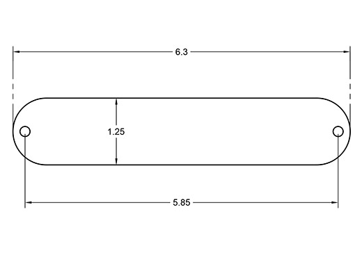 Blank Tele Control Plate outside and mounting dimensions